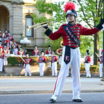 The Elyria High School marching band performs a special concert in ELY Square on Friday. KRISTIN BAUER | CHRONICLE