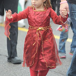 McKinley Elementary first-grader Jasmine Vinovich walks in the school's annual parade. STEVE MANHEIM/CHRONICLE