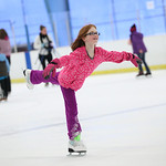 Taylor Holodnak of Elyria, (age 11), glides on the ice at North Park in Elyria during open skate on Sunday. photo by Ray Riedel