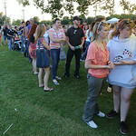 The funnel cake booth at the Elyria fireworks was a popular draw, as the booth had a long line the entire evening.  BRUCE BISHOP/CHRONICLE