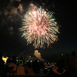 Fourth of July fireworks are seen at Lakeside Landing during the Port Fest in Lorain on July 4. STEVE MANHEIM/CHRONICLE