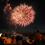 Fourth of July fireworks at Lakeside Landing during Port Fest in Lorain on July 4.   STEVE MANHEIM/CHRONICLE
