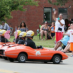 "Members of the Al Koran Shriners line up in front of parade spectators as they drive their ""Korvettes"" in the parade. ANNA NORRIS/CHRONICLE"