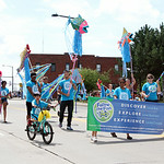 Members of Follow the Fish walk in the parade. ANNA NORRIS/CHRONICLE