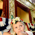 Emmah Cristarella 5, of Lorain, serves as a Flower Princess, representing the Polish culture, during the 48th annual Lorain International Princess Pageant. KRISTIN BAUER | CHRONICLE