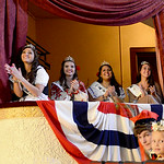 The 2013 Princess Court watchs the 2014 princesses compete for crown. KRISTIN BAUER | CHRONICLE