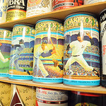 Beer cans in Lance Rice collection on Aprl 13.  Steve Manheim