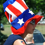 A participant in the 93rd annual Rochester homecoming parade July 4.  Steve Manheim
