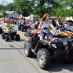 Patriotic ATVs in the 93rd annual Rochester homecoming parade on July 4.   Steve Manheim