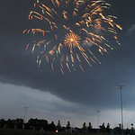 Fireworks at Victory Sports Park in North Ridgeville as it began raining on July 3.  Steve Manheim