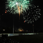 Fireworks after Crushers game at All Pro Freight Stadium in Avon July 4.  Steve Manheim