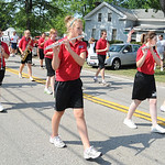 New London  High School marching band in the at the 93rd annual Rochester homecoming parade on July 4.   Steve Manheim