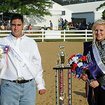 Taylor Prebish of Avon and Austin Carpenter of Avon Lake were crowned Miniature Horse first runner- up Prince and Princess on Monday. STEVE MANHEIM/CHRONICLE