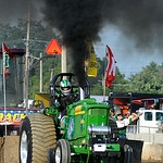 Dan Parkinson, of Granville, Ohio, competes in the Tractor Pull on Aug. 22. KRISTIN BAUER | CHRONICLE