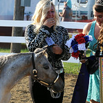 Taylor Prebish of Avon reacts after being named the Miniature Horse Princess. STEVE MANHEIM/CHRONICLE