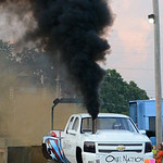 Eric McConnell drives his truck, One Nation, during the Smokeout Race on Aug. 20. KRISTIN BAUER   CHRONICLE