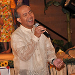 "Dr. Edwin Carandang sings a medley of loves songs Saturday, June 16, 2012, at Lorain International Festival Filipino cultural night at DeLuca's Place in the Park. While singing this song, ""S …"