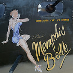 The nose art on the movie version of the Memphis Belle. This aircraft is one of the dozen B-17s that are still air worthy of the 13,000 that were built. BRUCE BISHOP/CHRONICLE