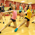 Members of the competition team for Miss Kristin's Dance Studio in Avon Lake rehearse jazz dance routines for upcoming performances on Mar. 4.   Steve Manheim