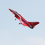 A Sport Eurofighter takes flight controlled by Nick Yuhasz, of Amherst. ANNA NORRIS/CHRONICLE