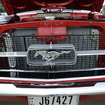 Front grill of a 1967 Ford Mustang at the Nick Abraham Elyria Ford 6th Annual Mustang and Ford Show, co-hosted by North Coast Mustang Club of Ohio (NCMCO), at Elyria Ford on E. Broad St. on  …