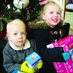 This is the second year Gavin, 18 months, and Madison Fife, 3, of Elyria, have donated.