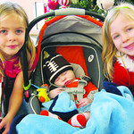 It's a family affair for Libby, left, Thad and Maggie, of Elyria, who donate each year.
