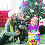 The Ternes family — Mom, Jack, 1, and Stella, 5 — donate toys every year.