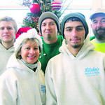 Ritsko Insulation and its staff donated a total of $350. Pictured are Maria Limber, Dominic Sorino, Alex Doughty, back left, Justin Sheriff and James Taylor.