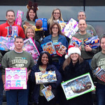 Members of Leadership Lorain County brought toys to the Not Forgotten Box.