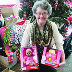 It was Shirley Crawford's wish to be involved in donating toys for Harris Floors LLC.