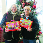 Jean and Rick Barger of North Ridgeville donated toys for the sixth time.
