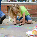 Lydia Chambers, 12, of Oberlin, finishes up her design. KRISTIN BAUER | CHRONICLE