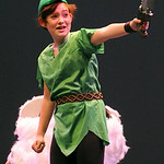 Paige Dillen plays Peter Pan in the Lorain County Children's Pioneer Theatre production of Peter Pan Jr. STEVE MANHEIM/CHRONICLE