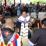 Amherst Vermilion com/ Drum circle at Native Ameican Pow Wow celebration at Vermilion River Reservation Sep. 26.  Steve Manheim