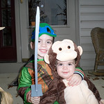 Gavin Rico, 3, and Weston Rico, 7 months, are ready for Halloween.