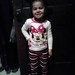Janay 2 1/2 years old, is ready for her day care's pajama party.