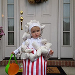 "Justin Archer Jr., 21 months, is popping up to say ""Happy Halloween!"""
