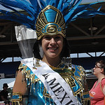 Mexican princess Breonna Stanley was at the International Festival bazaar Saturday in yet another of her many costumes. While many princesses wear the same costume for the entire festival, B …