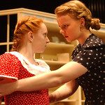 "Emily Ester, left, and Jeanette Hagerty rehearse for ""The Bad Seed"" on Nov. 8.   Steve Manheim"