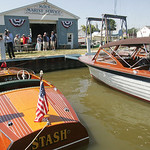 Left is a Chris Craft 17-footer and a 25-foot Lyman on the right. Moes Marine Service, Vermilion Boat Club and the city of Vermilion hosted the North Coast Ohio Chapter of the Antique & Clas …