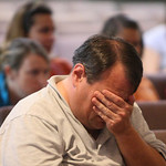 Randy Parten attends  a prayer service at Memorial Baptist Church in Killeen, Texas for the soldiers at Fort Hood who were killed or injured in a shooting at the Army base on Thursday, Nov.  …