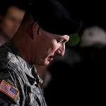 U.S. Army  Lt. Gen. Bob Cone pauses during a news conference outside Fort Hood, Texas, Thursday, Nov. 5, 2009. Cone announced that a shooting suspect is in custody and not dead, but in stabl …