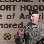 Lt. Gen. Bob Cones discusses the shooting spree that occured on the Fort Hood Army Base near Killeen, Texas on Thursday, Nov. 5, 2009.(AP Photo/Jack Plunkett)