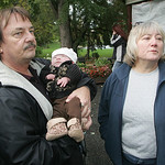 Ken and Jane Hoholski and their 7-month-old granddaughter Jasmine Rose, born to their daughter Catherine, who was found murdered. The Hoholskis were at a benefit at Puskas to raise money for &#8230;