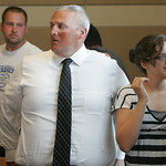 29JUN12  Gerald Wetherbee sentencing. Tom Tomasheski, who was injured in the crash, stands up after the verdict was read.       Photo  by Chuck Humel