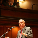 28SEP10  Karl Rove, ex-officio of the George W. Bush administration and now with Fox News spoke at Finney Chapel.  Area Union leaders, rank and file and some students protested outside.      …