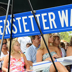 Officer Jim Kerstetter's family is seen at a ceremony renaming a street in his honor.