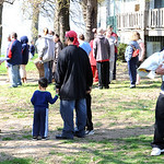 Residents wait outside after an apartment fire at Lakeview Apartments on W. Erie Ave. in Lorain Apr. 22.   Steve Manheim
