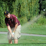 Kevin Scott of Wellington hits out the sand at Lorain County Coaches tournament at Columbia Hills Sep. 19.  Steve Manheim